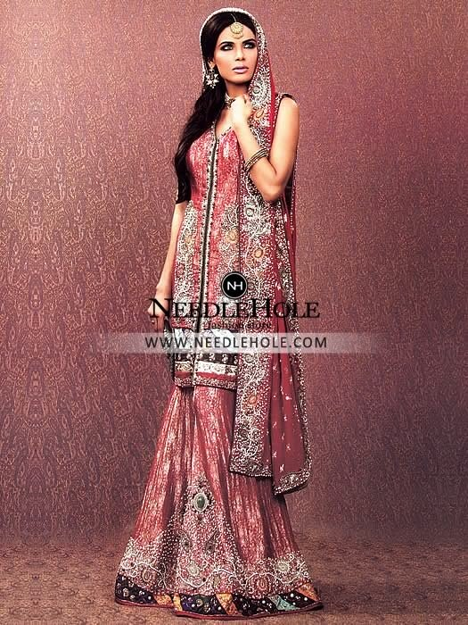 Amazing Asian Bridal Sharara Outfit For Bride This Is Definite Head Turner Making You