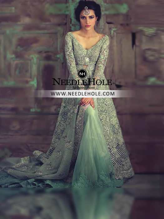 Wd6004917 L Custom Indian Bridal Gown With Flared