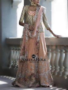 Custom Bridal Lehenga Outfit For Your Big Day In Peach Orange Color